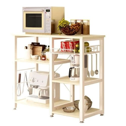 Microwave-Cart-With-Storage